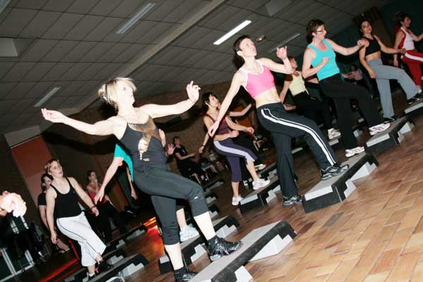 Lors d'une fitness party